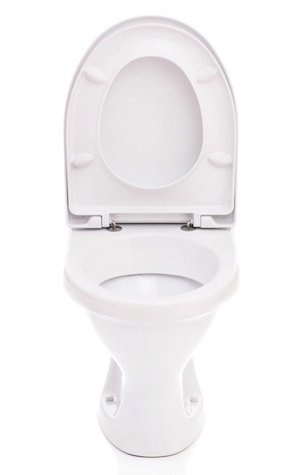 How to Install a Toilet Seat - Upright Isolated