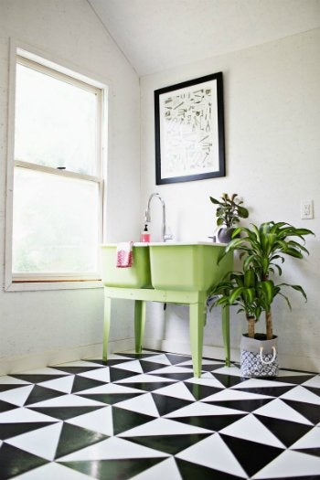How to Clean Linoleum Floors - Linoleum tile project from A Beautiful Mess