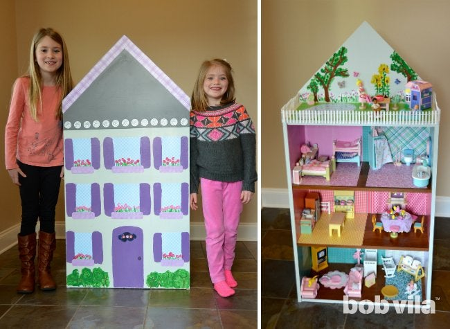 How to Build a Dollhouse - Front and Back Views