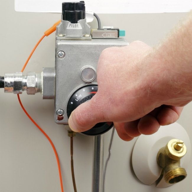Pilot Light Out - Adjusting Water Heater Temperature