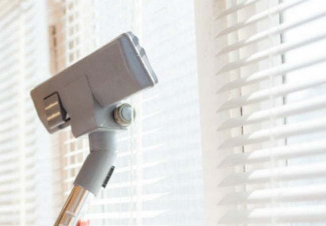 Best Way to Clean Blinds - Vacuum
