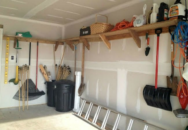 Diy Garage Shelves 5 Ways To Build, How To Build Wall Mounted Shelves In Garage