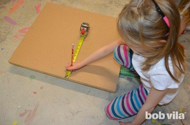 DIY Easel - Mark Holes for Drilling
