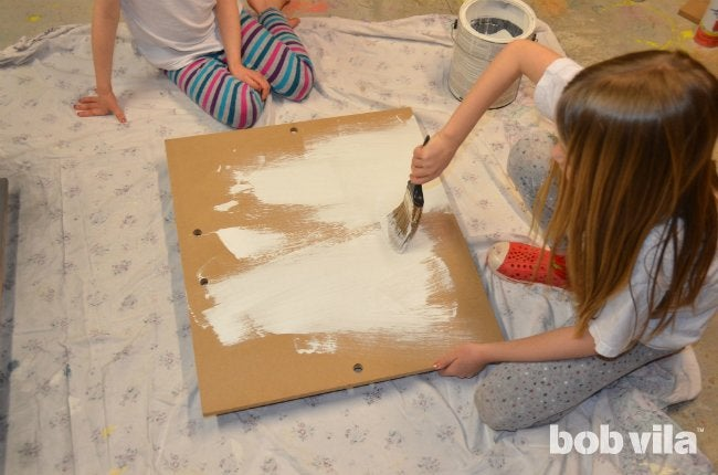 DIY Easel - Prime the Boards