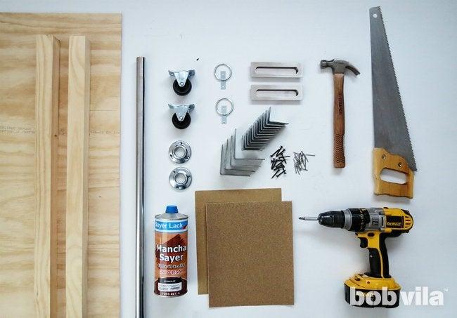 DIY Sliding Door - Supplies