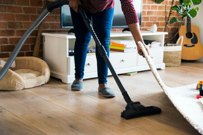 vacuuming to get rid of crickets