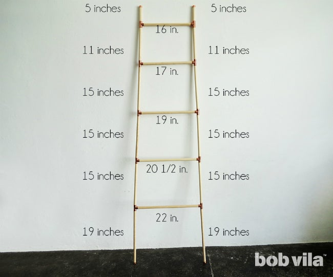 DIY Blanket Ladder - Step 5