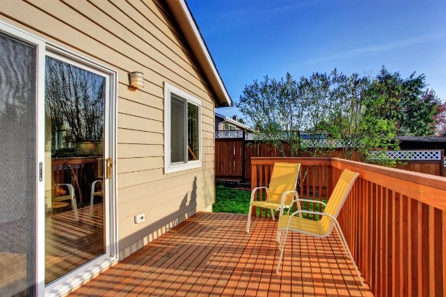 Deck Maintenance - Backyard Wooden Deck