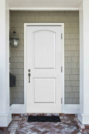 How to Paint a Metal Door - White Steel Entry Door