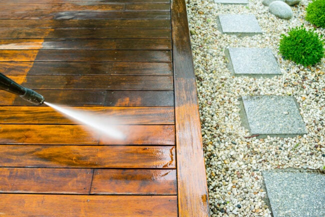 Deck Maintenance - Cleaning with a Pressure Washer