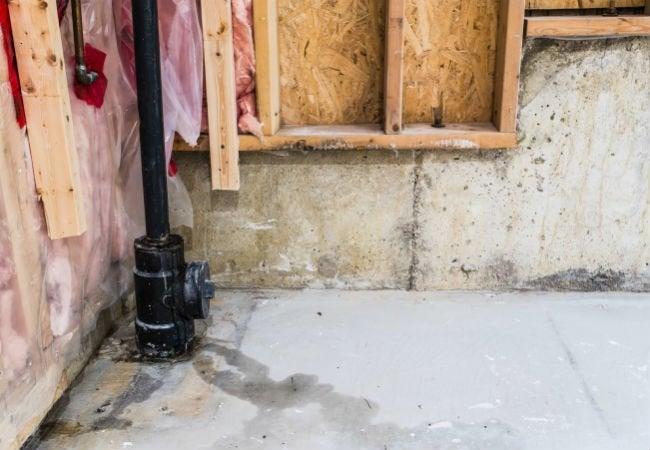 Basement Waterproofing - Leak