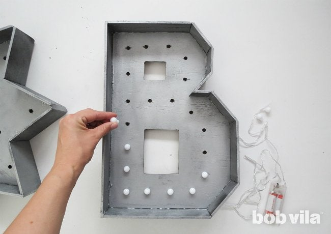 DIY Marquee Letter - Step 10