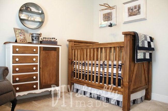 DIY Crib - Farmhouse Style from DIYstinctly Made