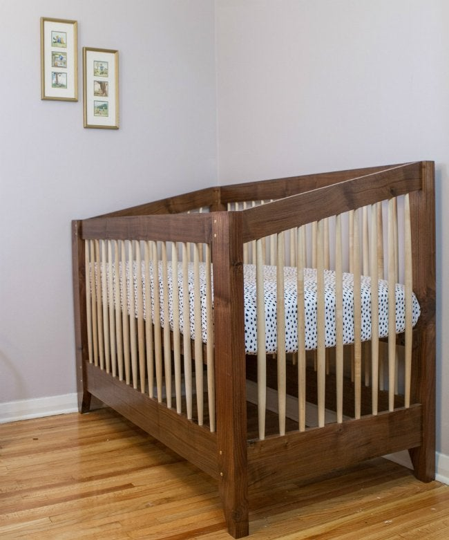 DIY Crib - Walnut and Maple Crib from Matt Cremona