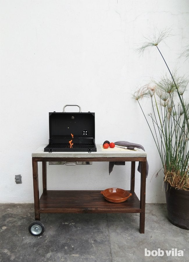 DIY Outdoor Kitchen - Completed Project