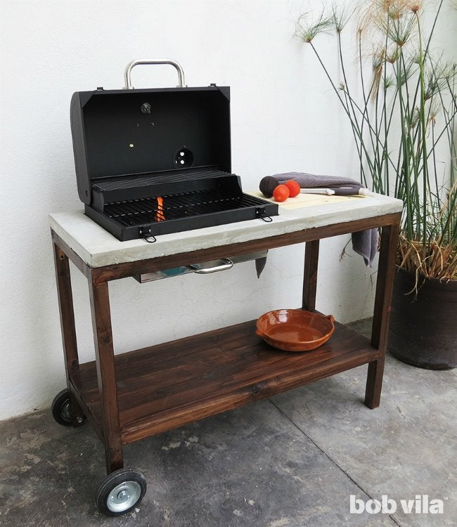 DIY Outdoor Kitchen - How to Build a Grill Cart