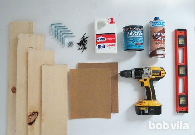 DIY Wall Shelves - Supplies