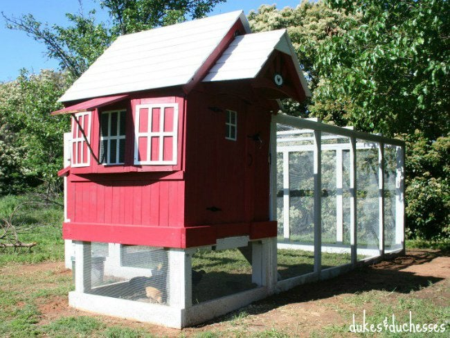 DIY Chicken Coop - Design by Dukes and Duchesses