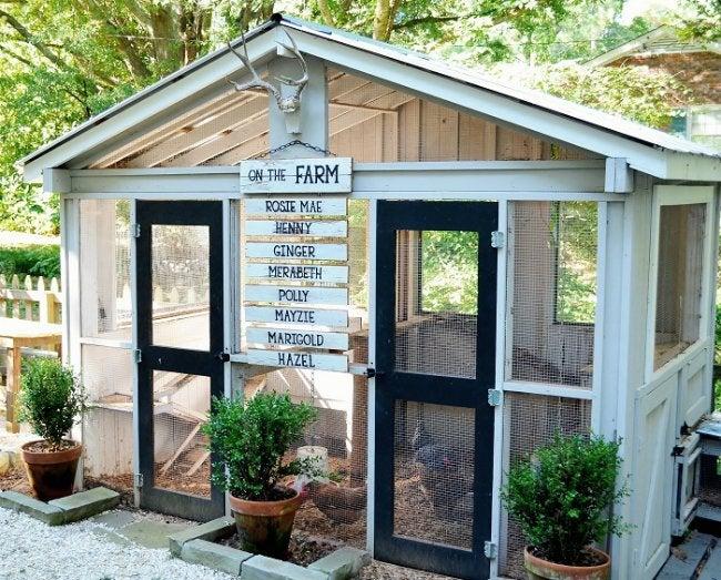 DIY Chicken Coop - Design from Redeem Your Ground