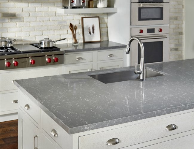 No Compromise Counters - Zodiaq Concrete Carrara