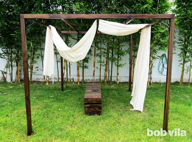 DIY Outdoor Privacy Screen - Step 9