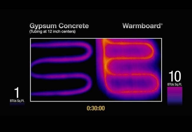 How to Choose a Radiant Heat System - Aluminum vs. Gypsum