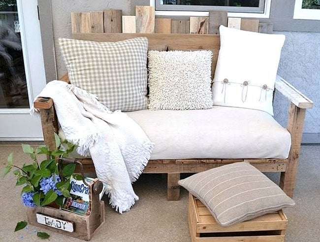 DIY Sofa Bench