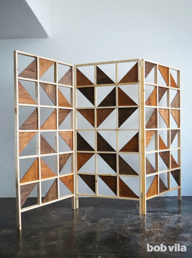 DIY Room Divider - Made from Plywood and Lumber