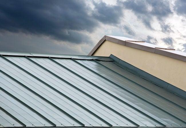 Installing Metal Roofing - Top View