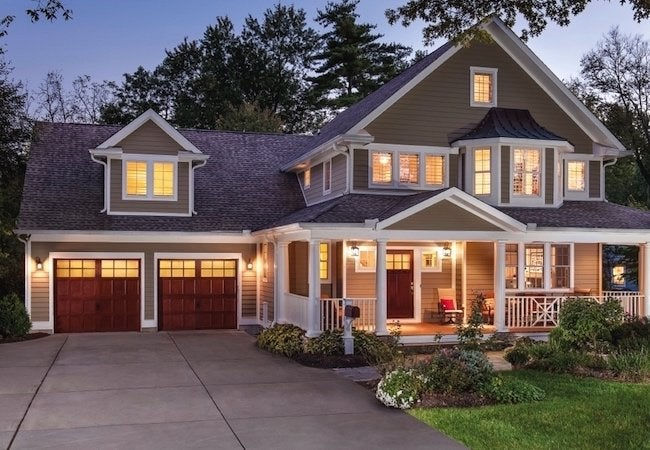 How to Choose a Garage Door - Stained Wood