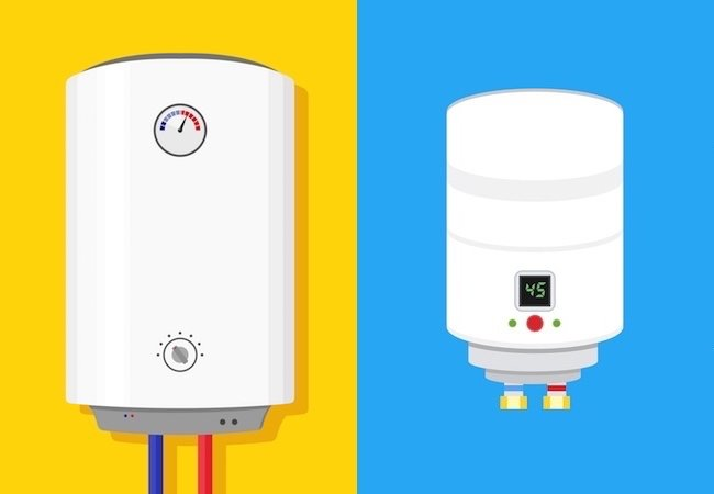Energy Efficient Water Heaters - Tankless Type Illustration