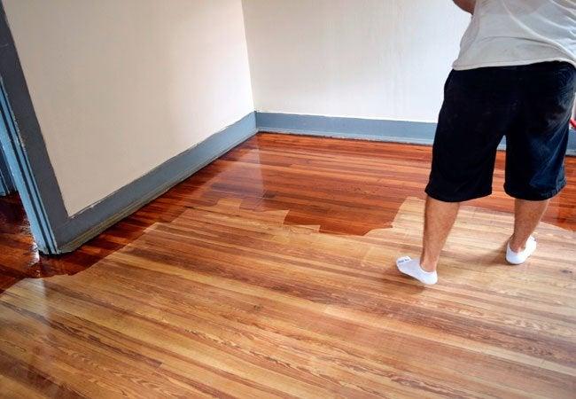 Plywood Floors - Staining