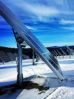 Solar Power Efficiency in the Winter