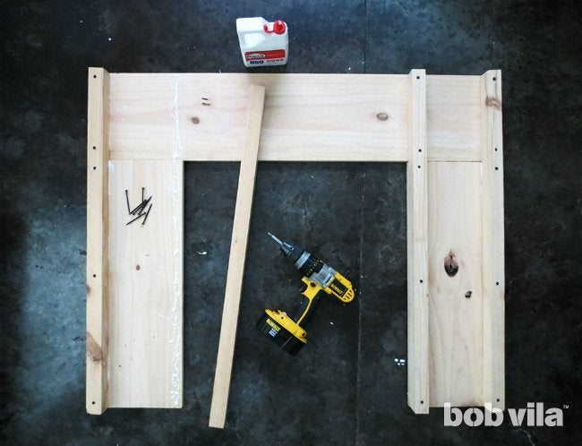 How to Build a Faux Fireplace - Step 1