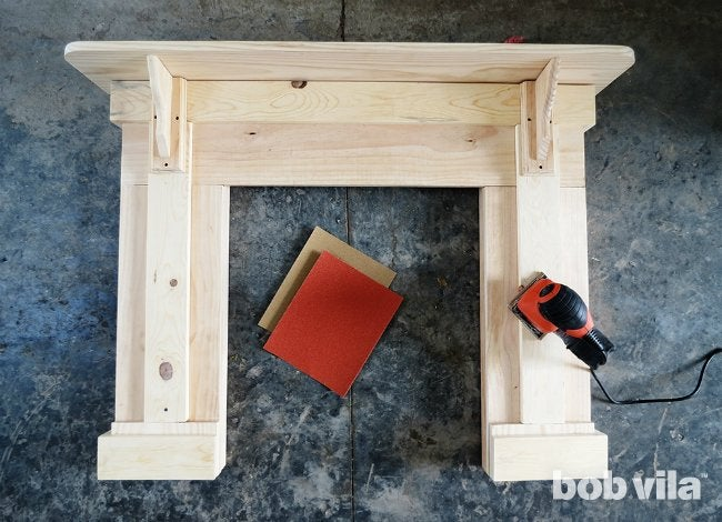 How to Build a Faux Fireplace - Step 6