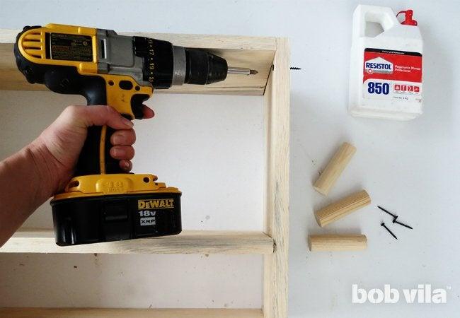 DIY Bathroom Storage - Step 5