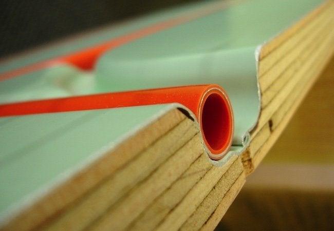 Cold Floors - Radiant Heat Panel Detail