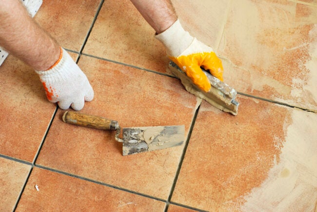 how to mix grout for tiling