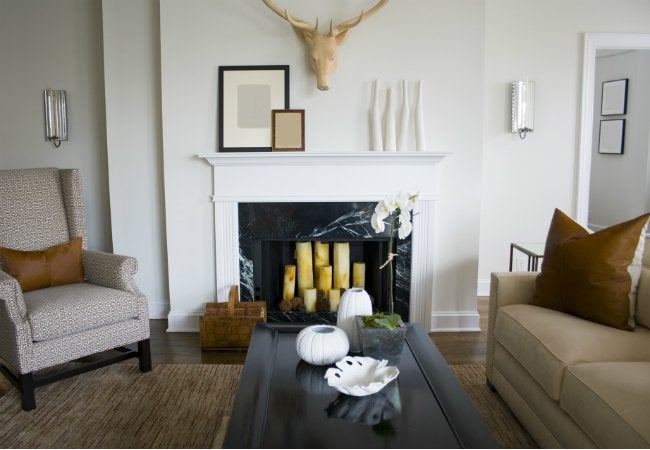 Fireplace Refacing with Marble