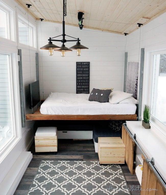 DIY Lofted Bed - Genius!