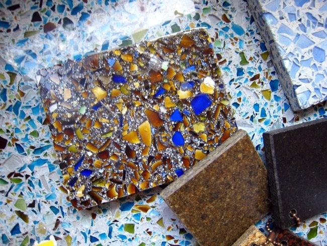 Samples of Glass Terrazzo Floors