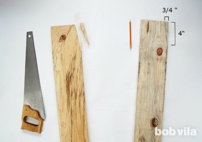 How to DIY a Ladder Plant Stand - Step 1