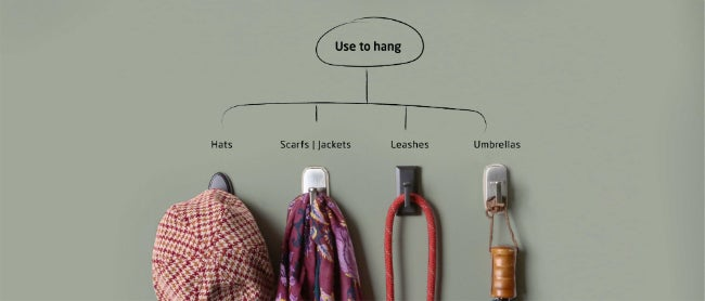 All of the Possibilities for Easy-Mount Decorative Wall Hooks