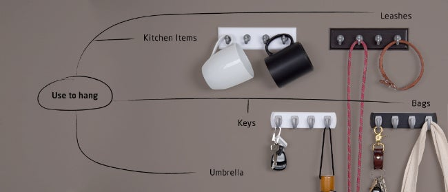 All of the Possibilities for Easy-Mount Hook and Key Rails