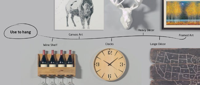 All of the Possibilities for Easy-Mount Wall Hangers