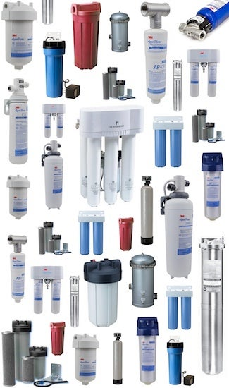 Product Collage - Types of Water Filters