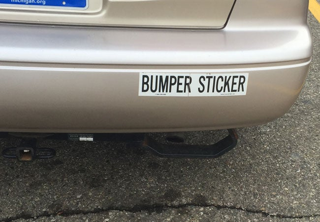 How to Remove Bumper Stickers
