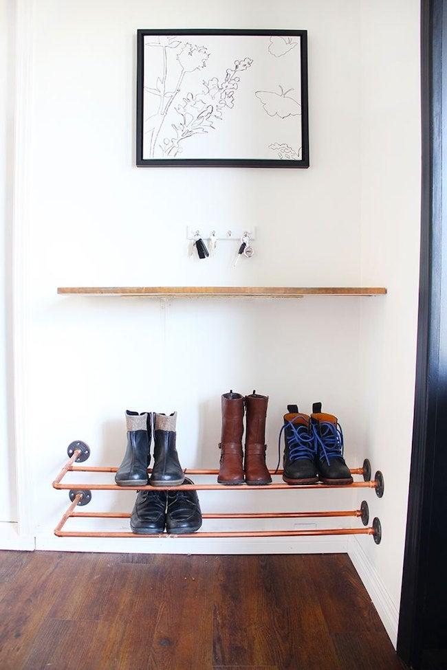 DIY Entryway Shoe Storage
