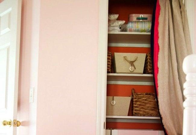 Small Closet Ideas - DIY Closet Curtain