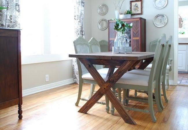 DIY Rustic Picnic Table